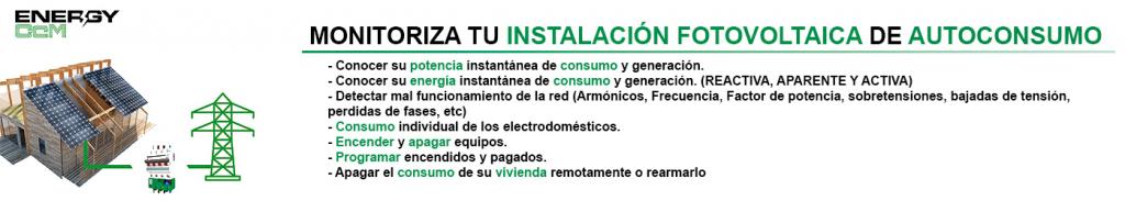 Monitoriza tu instalación fotovoltaica de autoconsumo con Energy CcM